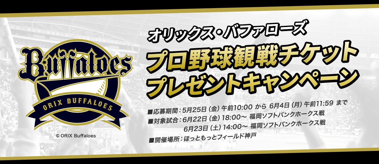 オリックス・バファローズ プロ野球観戦チケットプレゼントキャンペーン
